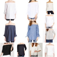 my love for off-the-shoulder tops