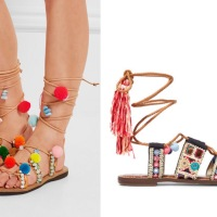 the embellished lace-up sandal