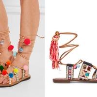 the embellished lace-up sandal