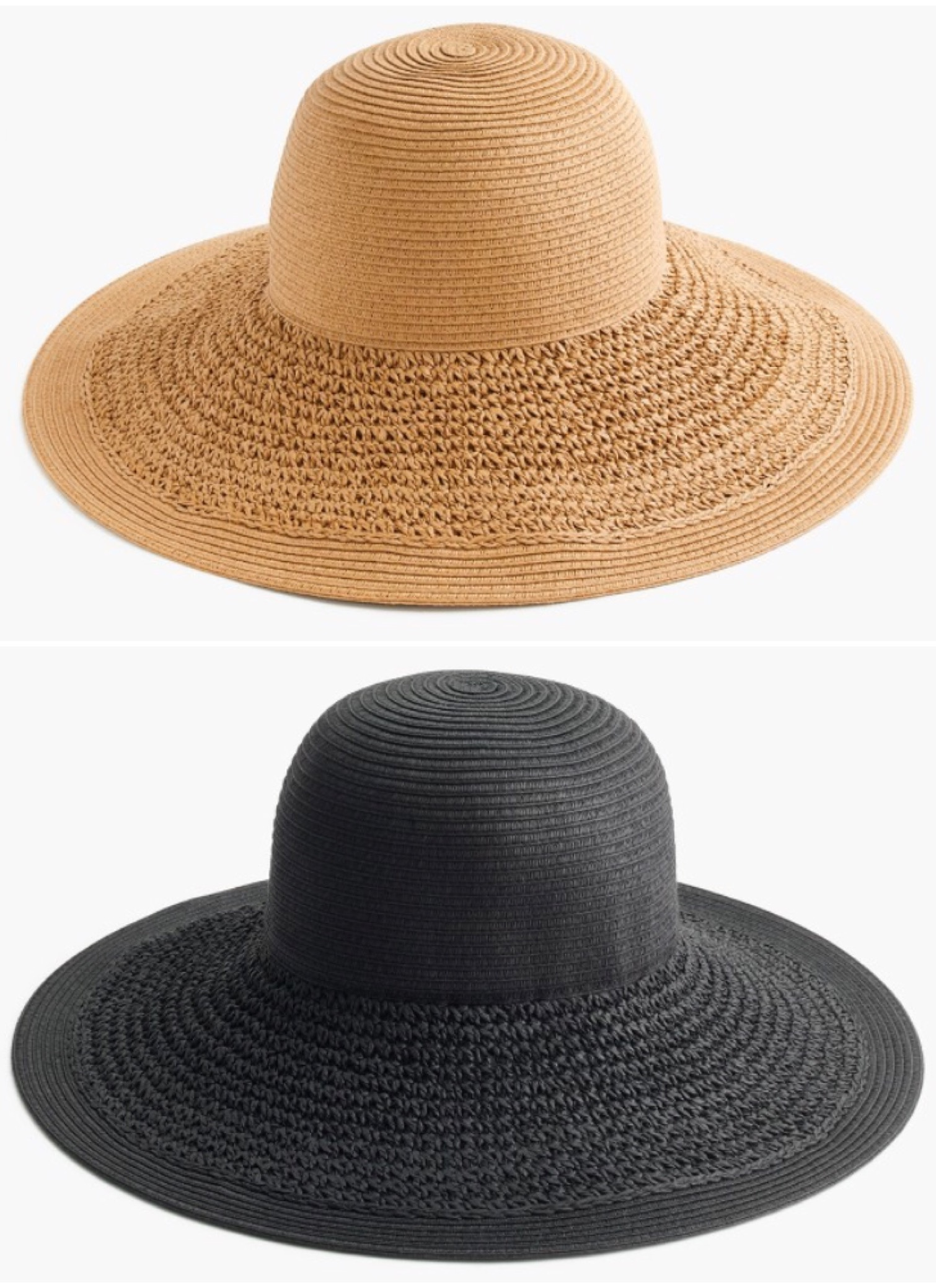 59a2fcd27e456 J.Crew textured straw hat in dusty dune   black.