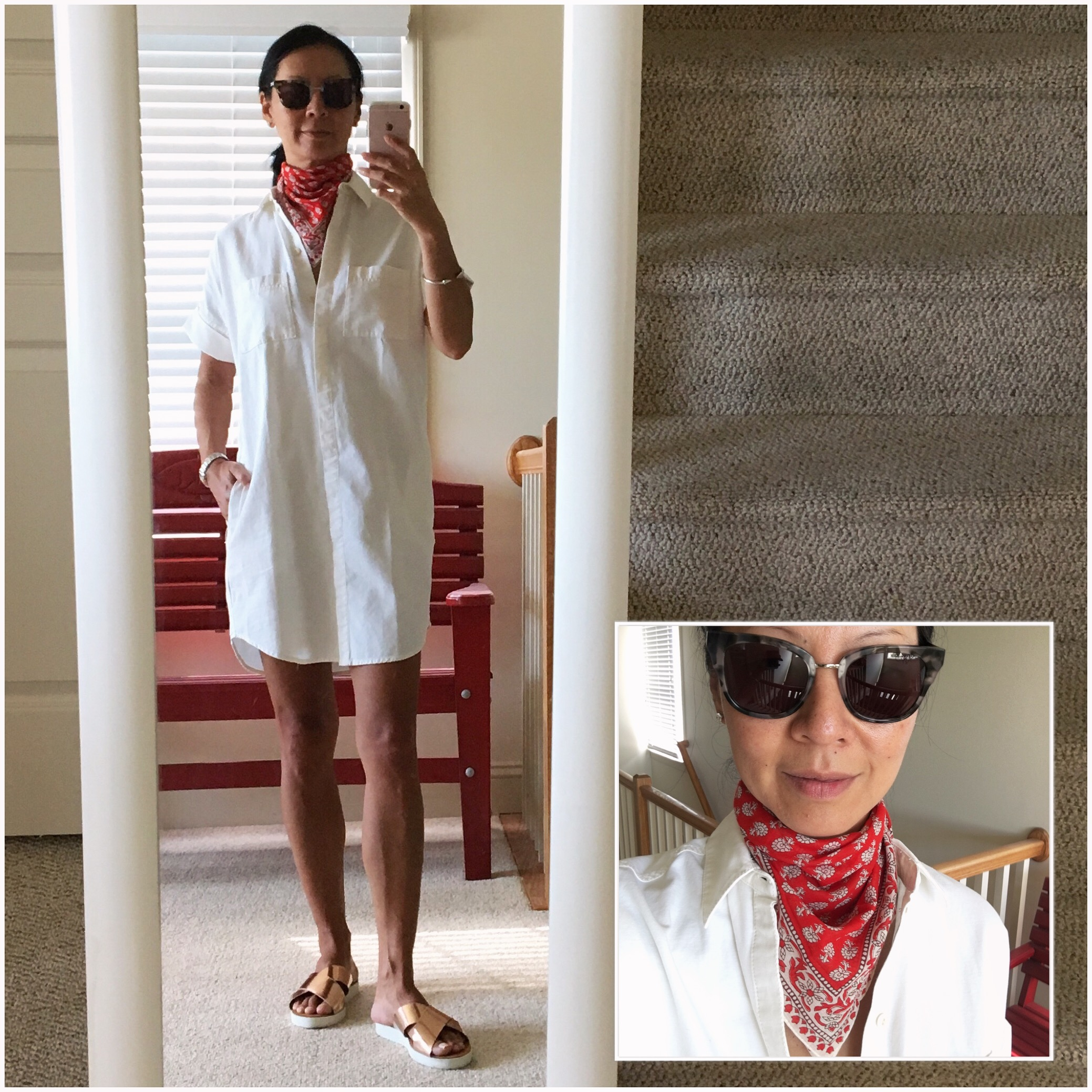 db3acae89b Madewell courier shirtdress in pure white